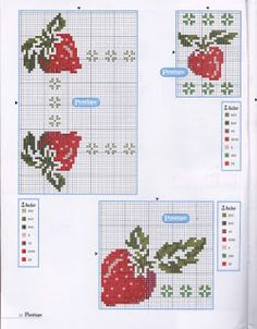 Cross Stitch Fruit, Cross Stitch Kitchen, Cross Stitch Borders, Cross Stitch Flowers, Cross Stitch Charts, Cross Stitch Designs, Cross Stitching, Cross Stitch Patterns, Blackwork Embroidery