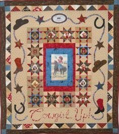 """""""Cowgirl Up"""" by Shelly Pagliai, at Prairie Moon Quilts"""