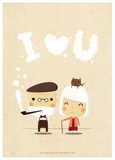 Old couple by kusodesign.deviantart.com on @deviantART