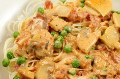 Capellini D'Angelo Roma with Peas and Prosciutto | A Culinary Journey With Chef Dennis