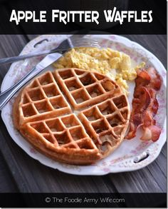 Apple Fritter Waffles from The Foodie Army Wife - Apple season is just around the corner and here is a great way for you to enjoy them.