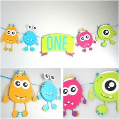 Your place to buy and sell all things handmade Little Monsters Monster theme birthday monster banner Little Monster Birthday, Monster 1st Birthdays, Monster Birthday Parties, First Birthday Parties, Birthday Party Themes, First Birthdays, Birthday Ideas, Little Monster Party, Monster Inc Party
