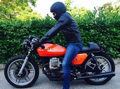 Moto Guzzi … – About Cafe Racers Moto Guzzi V50, Moto Guzzi Motorcycles, Cars And Motorcycles, Brat Bike, Moto Bike, Retro Motorcycle, Motorcycle Bike, Honda Cb400, Cb750