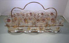 Vintage Libbey Golden Foliage Frosted  Beverage by MarieWarrenArts, $35.00