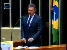 """Ótimo discurso! Senado do Brasil Comprado! """"Dilma coloca Congresso de cócoras"""", afirma Aécio Neves"""