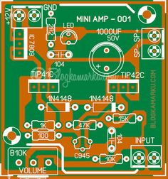 Diy Guitar Pedal, Diy Amplifier, Audio, Electrical Work, Powered Subwoofer, Circuit Diagram, Electronics Projects, Mint, Led