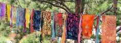 Gypsy caravan exotic garden flags.