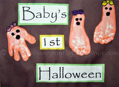 baby footprint projects | This will be Baby Sister's 1st Halloween so I started the tradition ...
