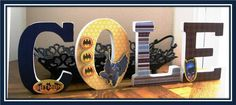 ::Love this!::  Custom Decorated Wooden Letters SUPERHERO THEME  by LetterLuxe, $10.00