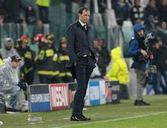 Massimiliano Allegri, Coach of Juventus reacts during the UEFA Champions League Quarter Final Leg One match between Juventus and Real Madrid at Allianz Stadium on April 3, 2018 in Turin, Italy.