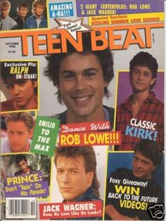 Teen Beat. Instead of wallpaper in my room it was posters. Oh, I didn't leave out the ceiling either.