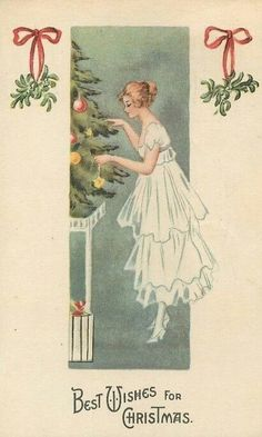 Vintage Christmas illustration, 1920s (30s?).