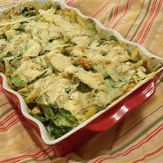 Pesto Chicken Penne Casserole - Allrecipes.com. At first I wasn't sure but it tastes better the next day.