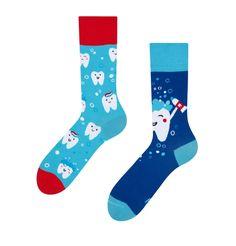 Angel And Devil, Teeth Cleaning, Pug Life, Good Mood, Socks, Clean Teeth, Design, Sock, Stockings