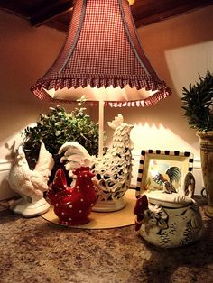 Marvelous My Sister Has A Beautiful Country Kitchen With A Similar Vignette Like This  One.. Rooster DecorRed ...