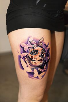 sugar skull tattoo***