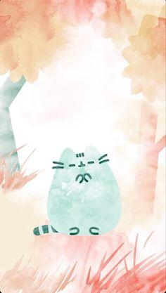 Pusheen Love, Pusheen Cat, Cat Wallpaper, Computer Wallpaper, Kawaii Doodles, Kawaii Cat, Anime Animals, Pictures To Draw, Crazy Cats