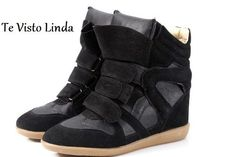 Zapatillas Sneakers Botita Con Taco Interno Num. 35 - 40