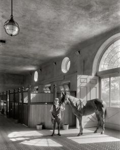 +~+~ Antique Photograph ~+~+ Goodness, If these are the stables with a herringbone patterned floor, I can only imagine what the house/manor/mansion/castle would have looked like ;)