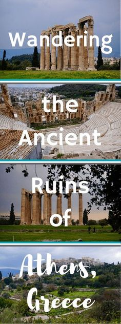 Curious to see what the ancient ruins are like in Athens, Greece? Check it out. • Wandering the Ancient Ruins of Athens, Greece | The Wanderful Me