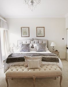 Chic Bedroom with Luxury Layered Textures