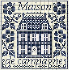 Many pages of free cross stitch, punto de croce, stickeule, point de croix Cross Stitch House, Cross Stitch Samplers, Cross Stitch Charts, Cross Stitch Designs, Cross Stitching, Cross Stitch Embroidery, Embroidery Patterns, Cross Stitch Patterns, Blackbird Designs
