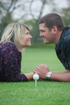 Fall engagement shoot at Spring Lake Golf Course. save the date. engagement ring by Imagery By Marianne www.imagerybymarianne.com