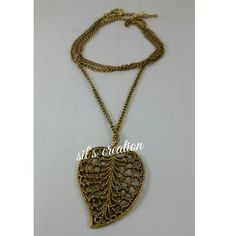 antique chain with leaf pendent