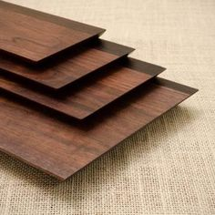 Edge Cutting Board And Trays  by D. Patterson & Co.