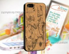 The Lord Of The Ring Map - Print On Hard Case iPhone 5 Case