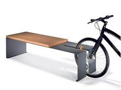 Banco / Porta-bicicletas em aço B-CYCLE - LAB23