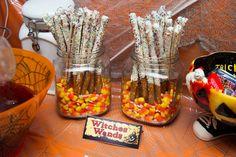 Dipped pretzel sticks  Sugar & Spice by Celeste: Halloween Fun