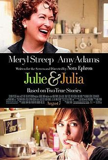 Julie & Julia (2009)  Julia Child's story of her start in the cooking profession is intertwined with blogger Julie Powell's 2002 challenge to cook all the recipes in Child's first book.