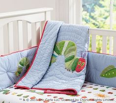 very hungry caterpillar quilts | eric carle very hungry caterpillar baby bedding pottery barn kids