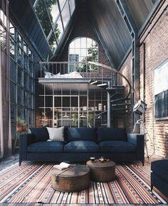Home Interior Design — Loft is designed by Daniela Bringas Designer...