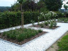 Modern Garden Design, Landscape Design, Back Gardens, Outdoor Gardens, Pebble Garden, Fresco, Green Garden, Garden Inspiration, Garden Ideas