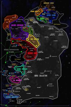 Map Of The Milky Way Galaxy In The Star Trek Universe Fandom