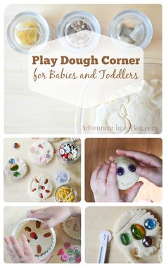 Play Dough Corner using open-ended materials.