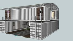 4x 40ft cargo container gorgeous villa - 3D Warehouse