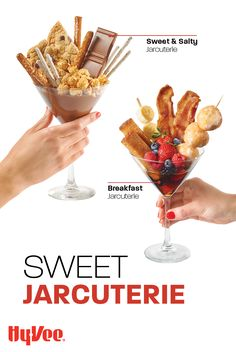 Satisfy your sweet tooth with these two sweet jarcuterie recipes! We've got one that is breakfast charcuterie in jarcuterie form, perfect for brunch! Snack Recipes, Snacks, Homemade Breakfast, Sweet And Salty, Charcuterie, Sweet Tooth, Brunch, Entertaining, Meals