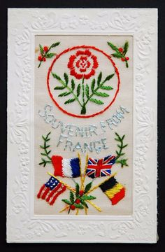 WW1 Silk Postcard :55TH DIVISION RED ROSE WEST LANCASHIRE REGIMENT SOLDIER in Collectables, Postcards, Military | eBay!
