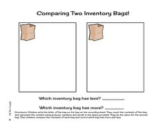 Here's a form for counting and comparing a set of objects in a bag.