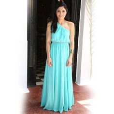 Mary Synatsaki wearing BSB dress