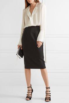 Alexander McQueen | Grain de poudre wool pencil skirt | NET-A-PORTER.COM