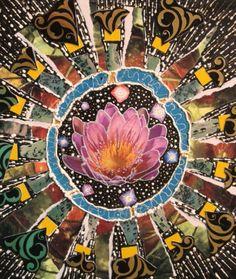 "Collage ""The Source - Mandala"" by Linda Carmichael"