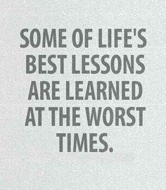 Best lessons, worst time