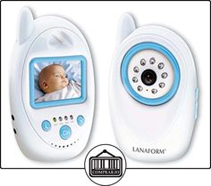 LANAFORM LA210101 video-monitor para bebés - Vigilabebé (FHSS, Batería, Azul, Color blanco, CMOS, 720 x 480,720 x 576 Pixeles, 480 x 234 Pixeles)  ✿ Vigilabebés - Seguridad ✿ ▬► Ver oferta: http://comprar.io/goto/B009H0F8EC