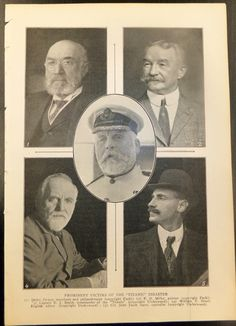 Titanic News April 25th 1912 - Prominent Victims - 9 pgs. Starting at $10
