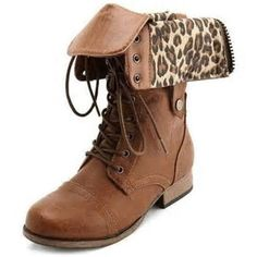 Image result for Animal Print Combat Boots