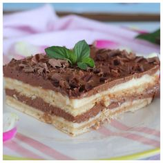 Greek Desserts, Greek Recipes, Desert Recipes, No Bake Desserts, Delicious Desserts, Yummy Food, Fun Food, Sweets Recipes, Cake Recipes